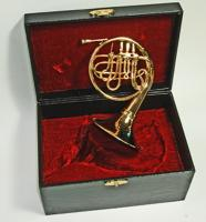 "Miniature 6.5"" French Horn with Case"