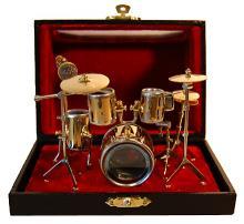 Miniature Drum Set Brass (Small)