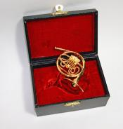 "Miniature French Horn 4"" and Case"