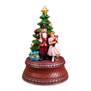 Classic Nutcracker Christmas Figurine with Clar