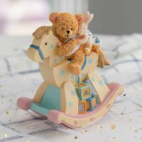 Rocking Horse with a Teddy Bear, Rabbit and Little Duck Riders