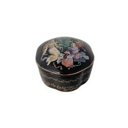 Russian Porcelain Miniature Music Box