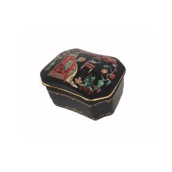 Russian Porcelain Miniature Music Box - Nightingale