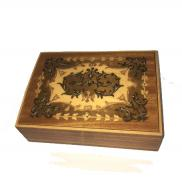 Vintage Small Intricate Italian Inlay Music Box