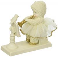 Snowbaby playing recorder to bird