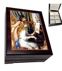 Music Box with decoupage of Renoir's Two Girls at a Piano