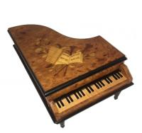 Vintage Italian piano with Instrumental inlay 36 note