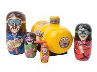 Nesting Doll musicians in Yellow Submarine