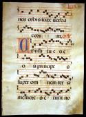 Gregorian Chant illuminated Musical Manuscript