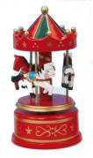Red with Green Wooden Baby Carousel