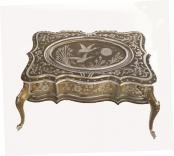 Front view of Zimbzlist French Table 72 Note Music Box