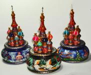 Saint Basil Cathedral rotating musical figurine