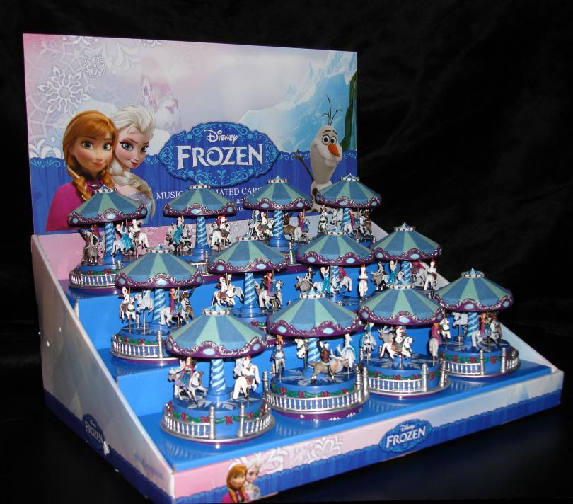 Frozen Caousel Mini Music Boxes Display