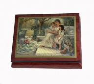 Brenda Burke's Chidren's Hour Elm Music Box by Ercolano
