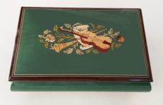Green Musical Box with Instrumental Inlay