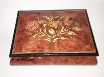 Floral Inlay on  Elm Music Box
