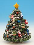 Glittering Deocorated Christmas Tree by Music Box Kingdom