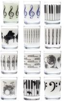 tumblers with instrument designs