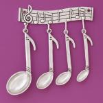 Eighth Note Pewter measuring set with rack