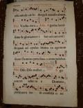 gregorian musical manuscript 1650