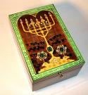 Menorah on Green Box - To Life