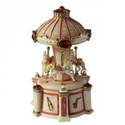 Lighted musical Carousel with Pillars