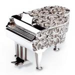 Reuse Miniature Piano Music Box in Solid Silver
