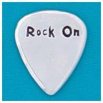 Rock on Guitar Pick by Basic Spirit