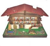 Swiss Chalet Two Story Music Box 36 notes