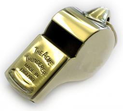 Acme Thunderer (Referee's) Whistle (58) with Square Mouthpiece - Polished Brass