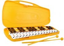xylophone 27 keys in yellow case with mallets