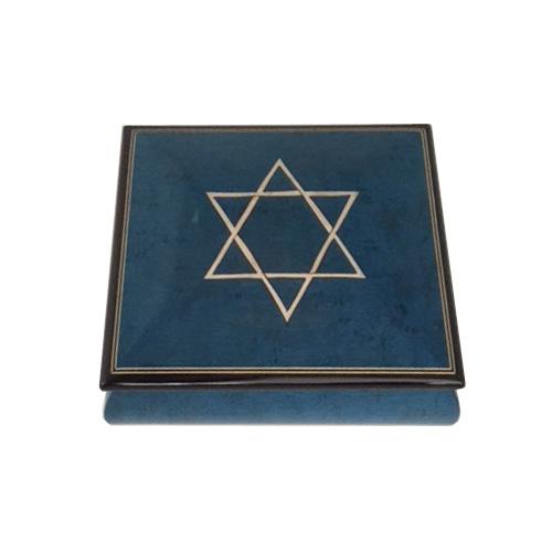 Star of David Inlaid Music Box
