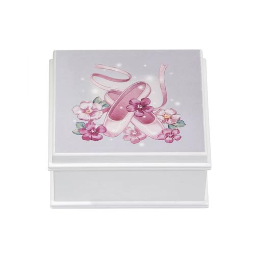Surry - Ballet Shoes and Twirling Ballerina Musical Jewelry Box