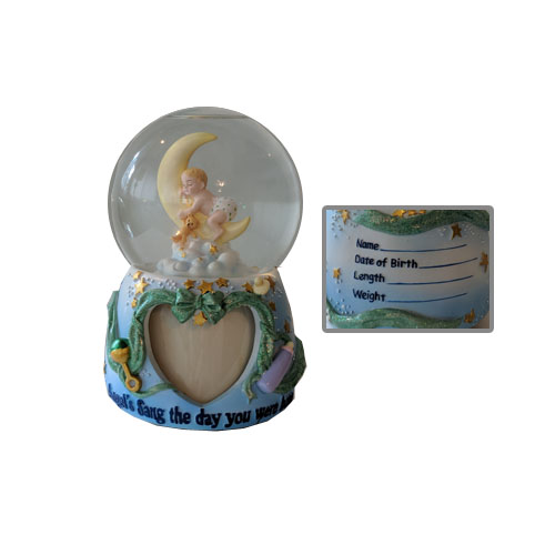 Welcome Baby Water Globe by San Francisco Music Box Company