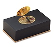 Reuge Collection Singing Bird Box Dawn Chorus Black with Gold Lid
