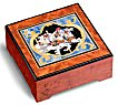Carousel Horse decoupage on burled elm Music box