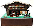 Swiss Chalet Music Box with Three Dancing (Waltzing) Couples