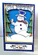 Animated Frosty the Snowman with Bird