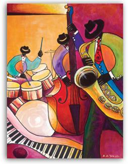 Jazz Trio - Canvas Art from African American Expressions