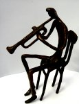 Bronze Trumpet Player (seated thinner)