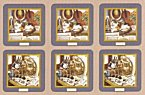 Pimpernel Creative Cats Coasters Set of 6