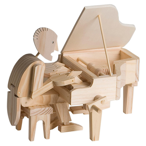 "Assembled Timberkit ""Make Your Own"" Pianist"