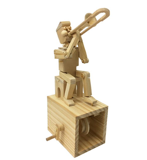 """Assembled Timberkit """"Make Your Own""""  Trombone Player"""