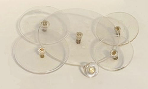 Top View of Clear Plastic Platform Winding Keys