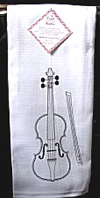 Kitchen Towel with Violin
