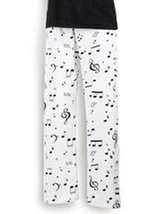 Sleep Wear Ladies Musical Pajama Pants