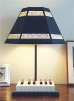 custom lamp made to order of piano keys