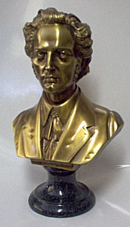 Composer Busts - Brass Tone Bronze  Chopin Large
