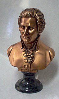 Composer Busts - Copper Bronze Tone  Bach, Mozart,  Beethoven or Chopin,  Large