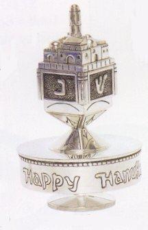 Judaica - Silver Dreidel Music box